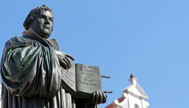 Statue von Martin Luther in Wittenberg.